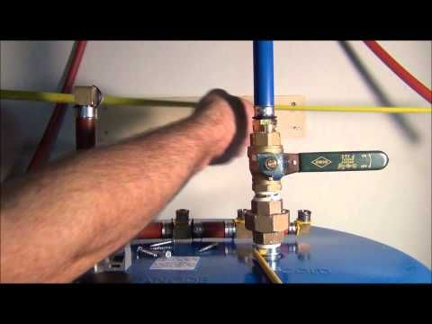 how to install pex pipe waterlines in your home part 4 plumbing tips youtube home. Black Bedroom Furniture Sets. Home Design Ideas