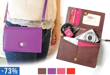 Kleine tasjes zijn super handig, maar niet als jouw spullen er niet in passen. #korting #tas #mini #portemonee