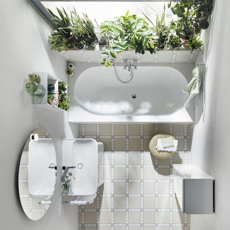 Pequeño baño con plantas. baños
