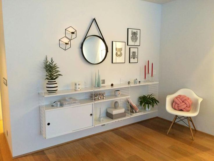 String shelves and Scandinavian design