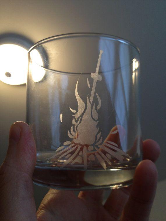 Dark Souls - Bonfire - Etched Glass 20