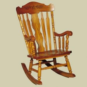 Rocking Chairs - Heritage Colonial Acorn Country Lane Rocking Chair ...