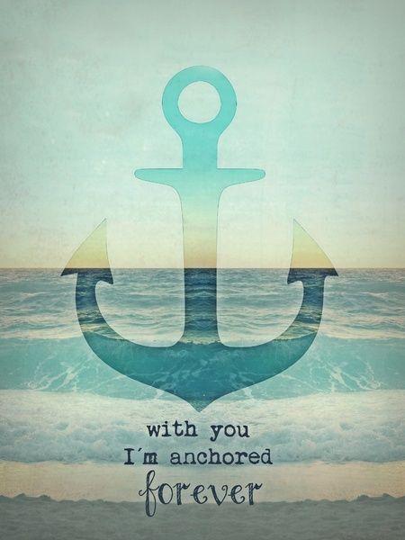 ANCHOR Art Print #anchor #vintage #beach #sea #quote