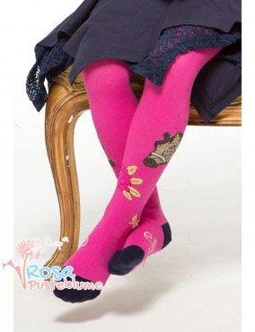 Pezzo Doro Strumpfhose Pferd - pink