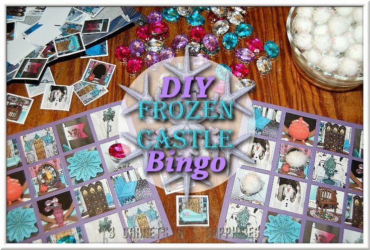 disney frozen bingo | DIY Disney FROZEN Castle Bingo Game plus Free Printable - #FrozenFun # ...