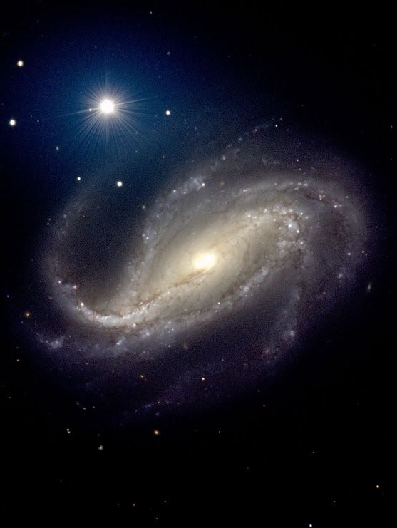 #NGC613 is a beautiful barred spiral galaxy in the southern constellation #Sculptor. This galaxy is inclined by 32 degrees and, contrary to most barred spirals, has many arms that give it a tentacular appearance.