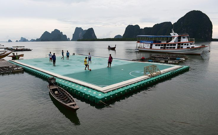 Football Pitch on Water in Thailand