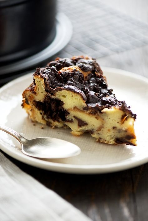 All I can say about this is yum. I just love bread pudding and especially  when it's covered in chocolate.