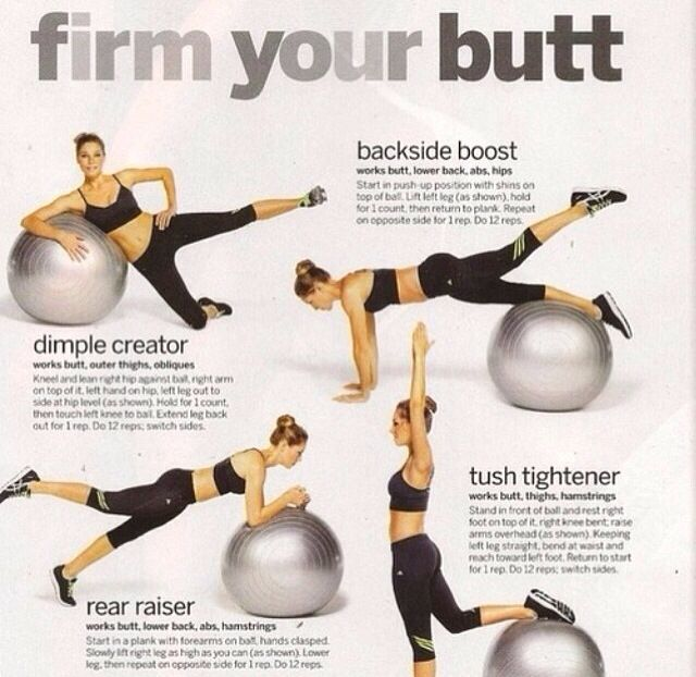 Butt workout. | Getting Fit | Pinterest | Fitness, Workout and Exercise