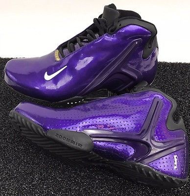7f130c4fcfc189 VINTAGE 2002 NIKE AIR FLIGHT BASKETBALL HIGH TOP PURPLE SHOES MENS SIZE  10.5. Find this Pin and ...