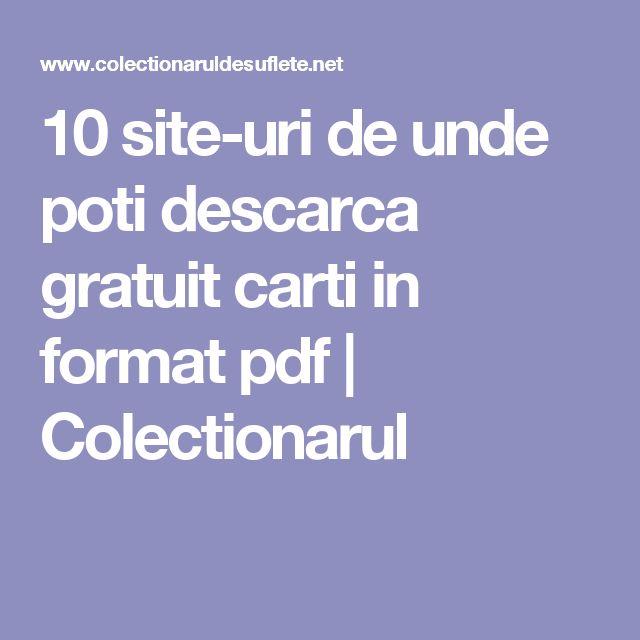 10 site-uri de unde poti descarca gratuit carti in format pdf | Colectionarul