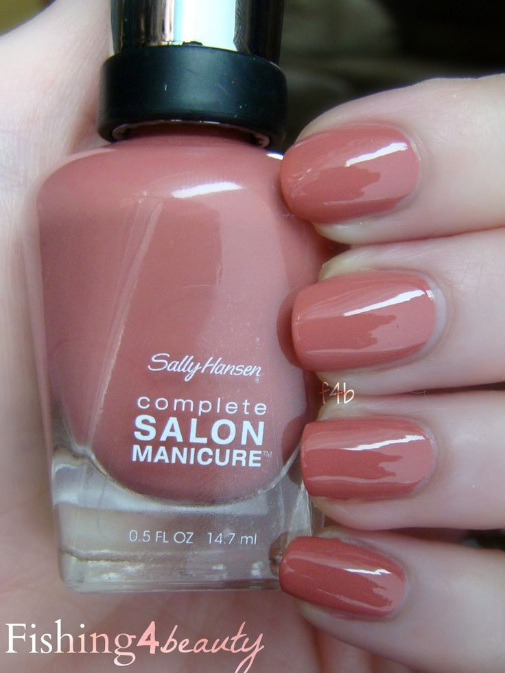 So Much Fawn, #Sally_Hansen CSM - dusty rose pink #nail_polish/ lacquer