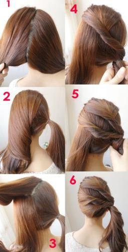 Quick ponytail tutorial-super easy-hair diy-step by step