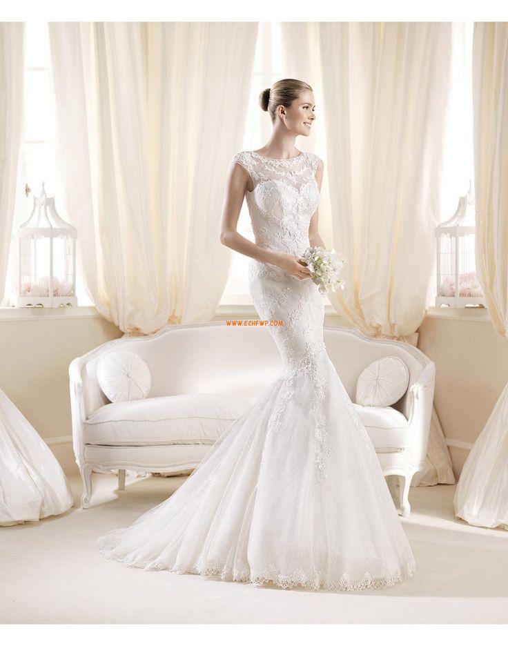 Dentelle Elégant & Luxueux Plongeant Robes de mariée de luxe