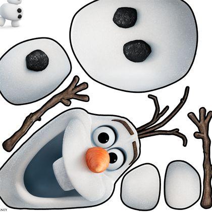 Construis ton bonhomme de neige de la reine des neiges