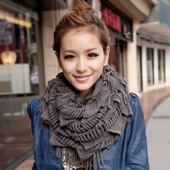 ... cirkels kabel ring hals gebreide sjaal sjaal casual(China (Mainland
