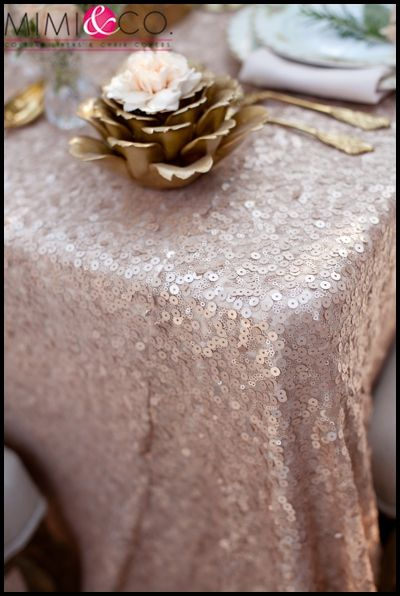 Sequin Table Cloth For Head Table