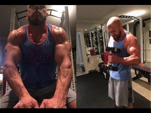 Triple H Workout 2017   WrestleMania 33 - YouTube