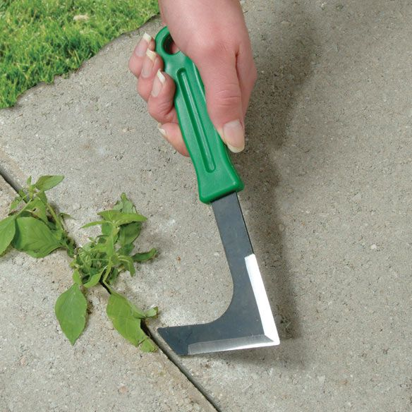 """Hand Lawn Edger eliminates weeds with ease and precision. Edger tool tidies up walkways, borders and pavement. Lawn edger tool is lightweight and easy to handle, making quick work of weed removal between bricks and stones, too. Creates neat and tidy lawn edges effortlessly! Plastic and metal measures 8' x 2 3/4""""."""