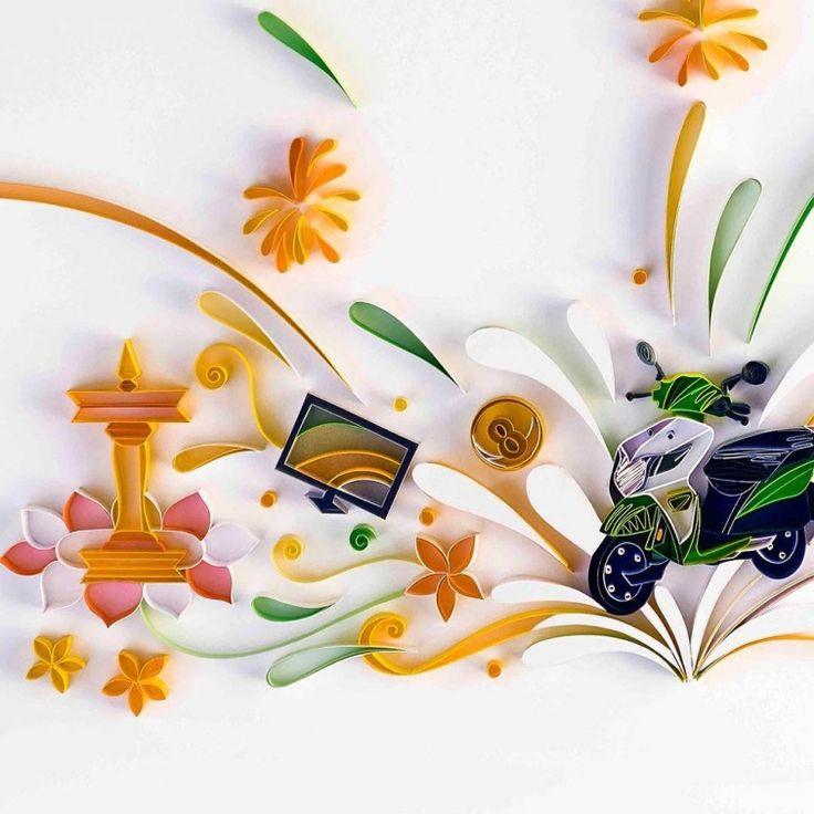 Фантастически красивые работы из цветной бумаги, которые принесут наслаждение любому перфекционисту
