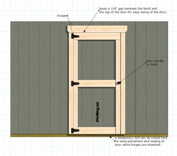 One of the simplest ways to build single shed doors for for Exterior shed doors design