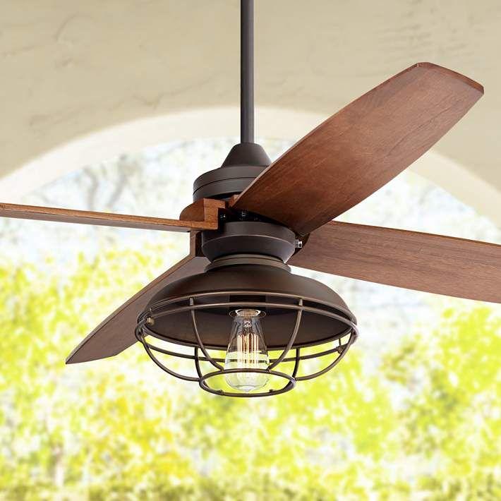 52 casa vieja impel franklin park bronze damp ceiling fan