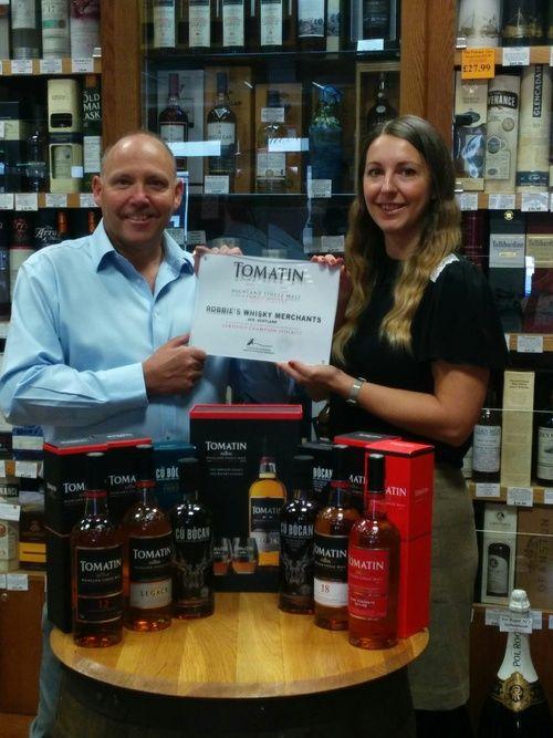 Und ein weiterer Tomation Partner oder Championstockist genannt. #championstockist #tomatin #whisky #brand