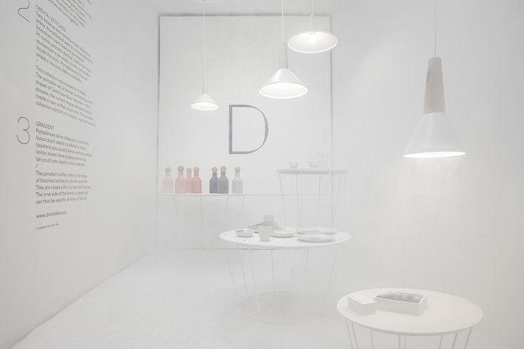 Exhibition at Designblok 2014, Prague. Installation by Petr Hak. Porcelain by Marketa Drzmiskova. www.drzmiskova.cz
