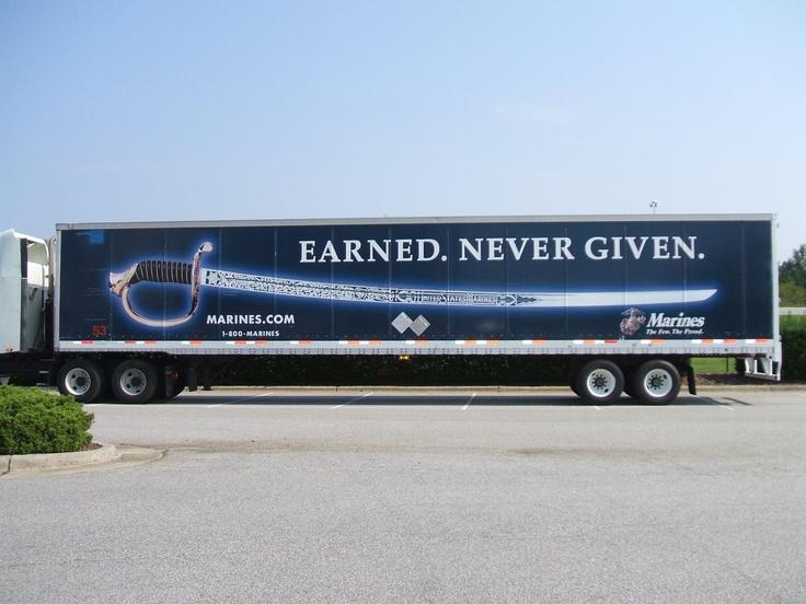 Barr-Nunn Trailer at convention #marines | Truck Ads | Pinterest ...