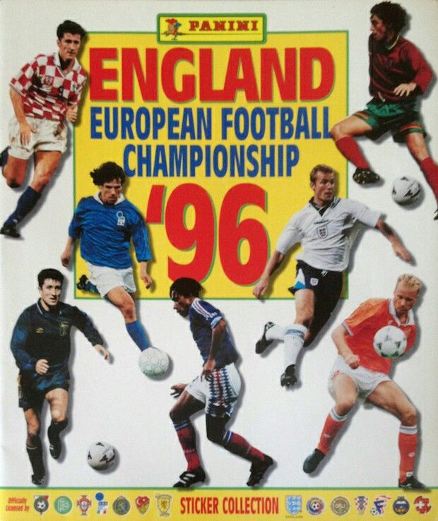 England. European Football Championship '96. Panini sticker album.