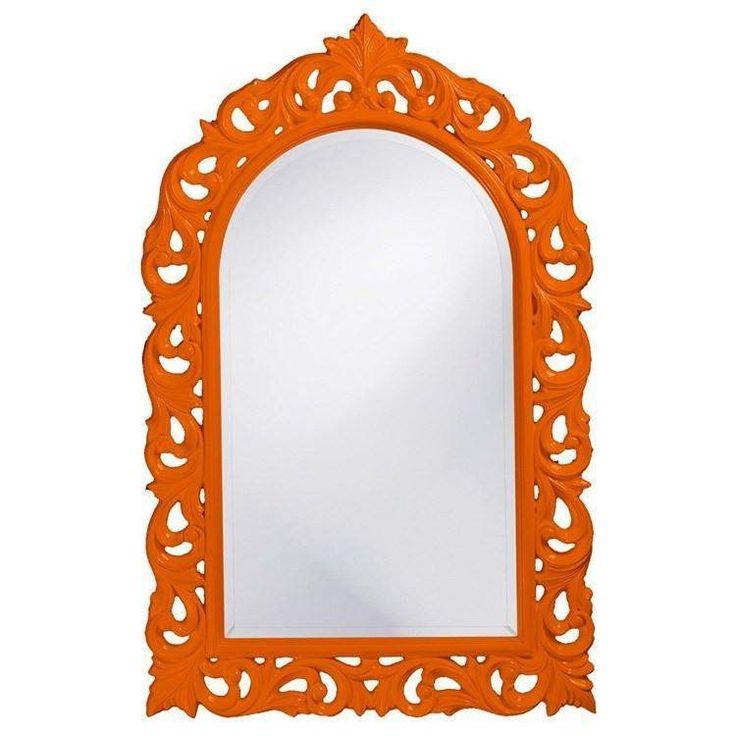 "Howard Elliott Orleans Orange Mirror 30"" x 47"" x 1"""