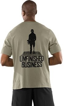 My new UA shirt for running events.  It sponsors the Wounded Warrior Project.