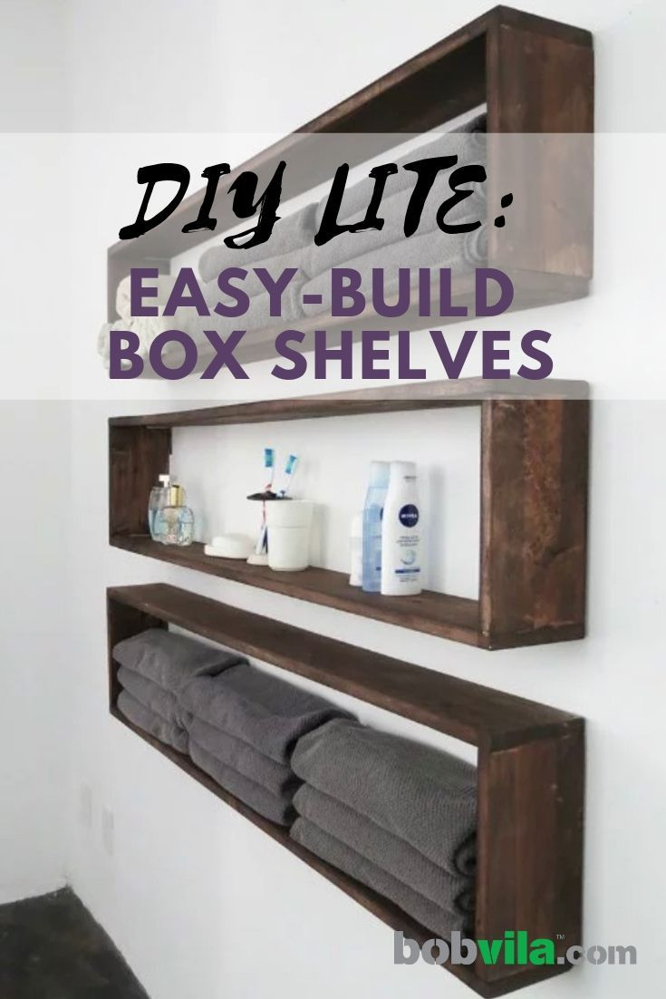 Incredible Diy Wall Shelves In The Bathroom Tutorial Diy Projects Interior Design Ideas Philsoteloinfo