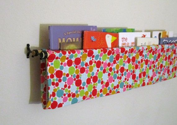 Great childrens room book holder....easy to make too!