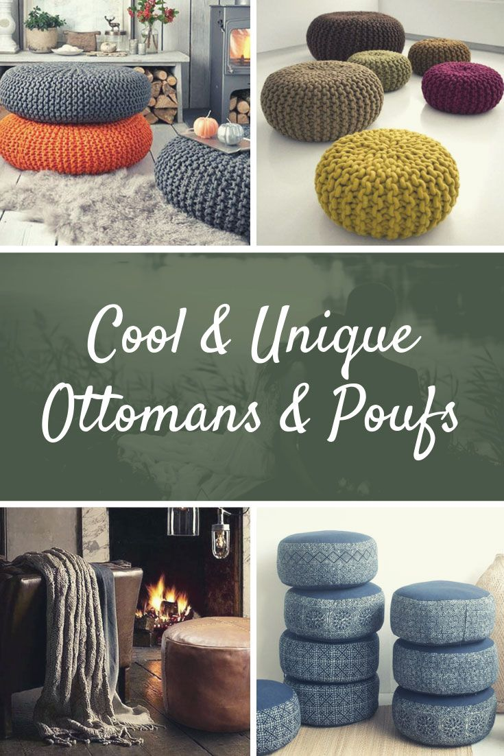31 Cool Unique Ottomans Poufs For Any Room Living Room