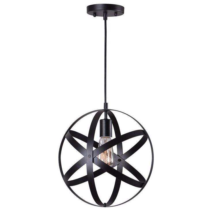 home decorators collection 1light black mini pendant