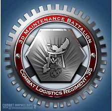3rd Maintenance Battalion is a battalion of the United States Marine Corps that provides intermediate-level maintenance for the III Marine Expeditionary Force's tactical ordnance, engineer, motor transport, communications electronics and general support ground equipment. The unit falls under the command of Combat Logistics Regiment 35 and the 3rd Marine Logistics Group.