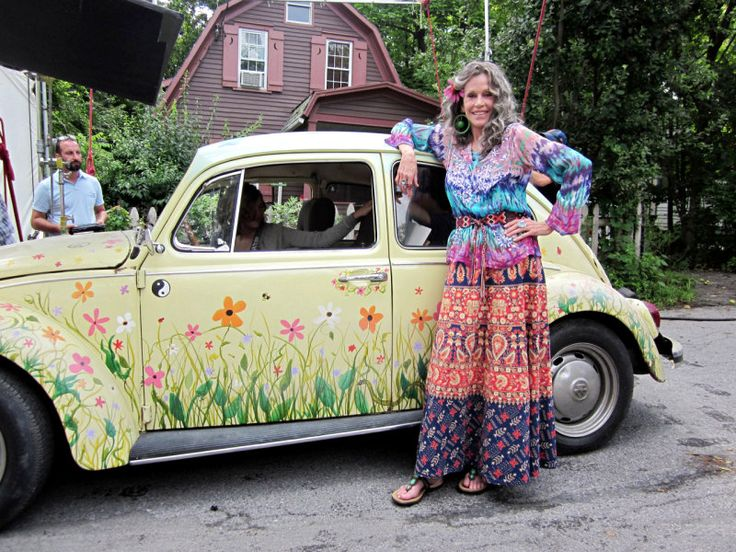 Jane Fonda's First Look as Hippie Grandmother in Woodstock Film