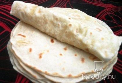 Házi készítésű tortilla lapok