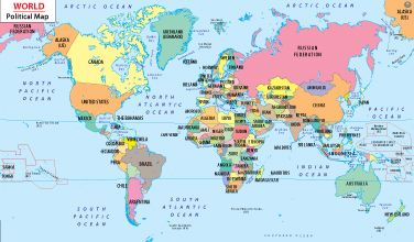 Make The Cut >> World Map with Countries; put on wall and make country cut ...