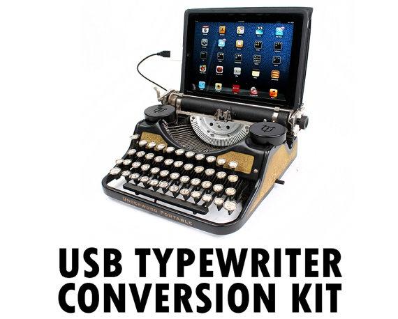 DIY USB Typewriter Conversion Kit by usbtypewriter on Etsy, $74.00: Typewriter Computer, Ipad, Computer Keyboard, Typewriters