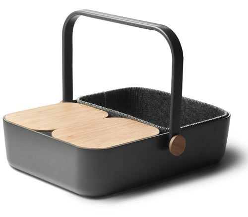 The Norm Multi-Basket from Menu gives you the best of both worlds - it's a picnic basket & tray. Comes with two air-tight containers with bamboo lids.