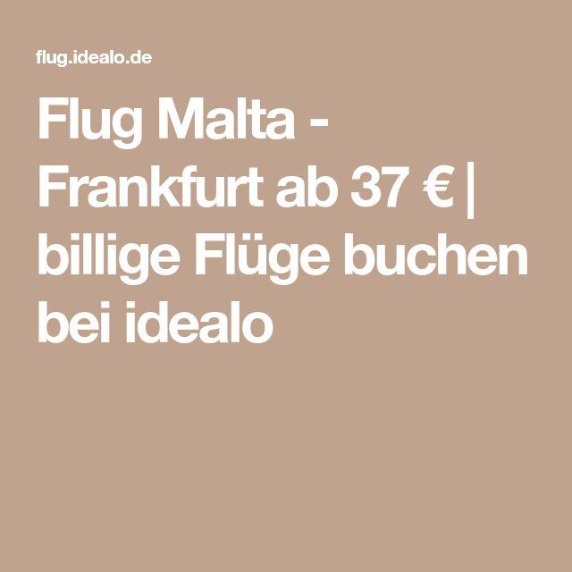 Flug Malta - Frankfurt ab 37 € | billige Flüge buchen bei idealo