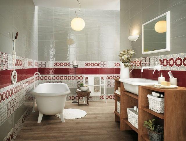 carrelage salle de bains effet majolique, série Havana