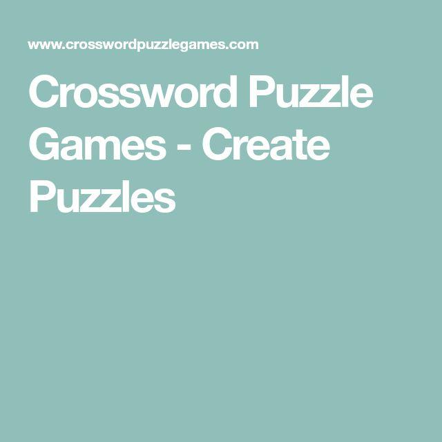 Crossword Puzzle Games - Create Puzzles