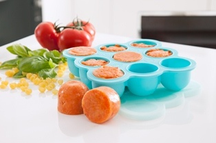 Freezer Pods are specially designed for freezing home-made baby food.  Made out of high grade silicone, food pops out as easy as can be.  It won't snap like plastic can!