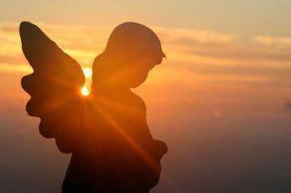 Angel overlooking