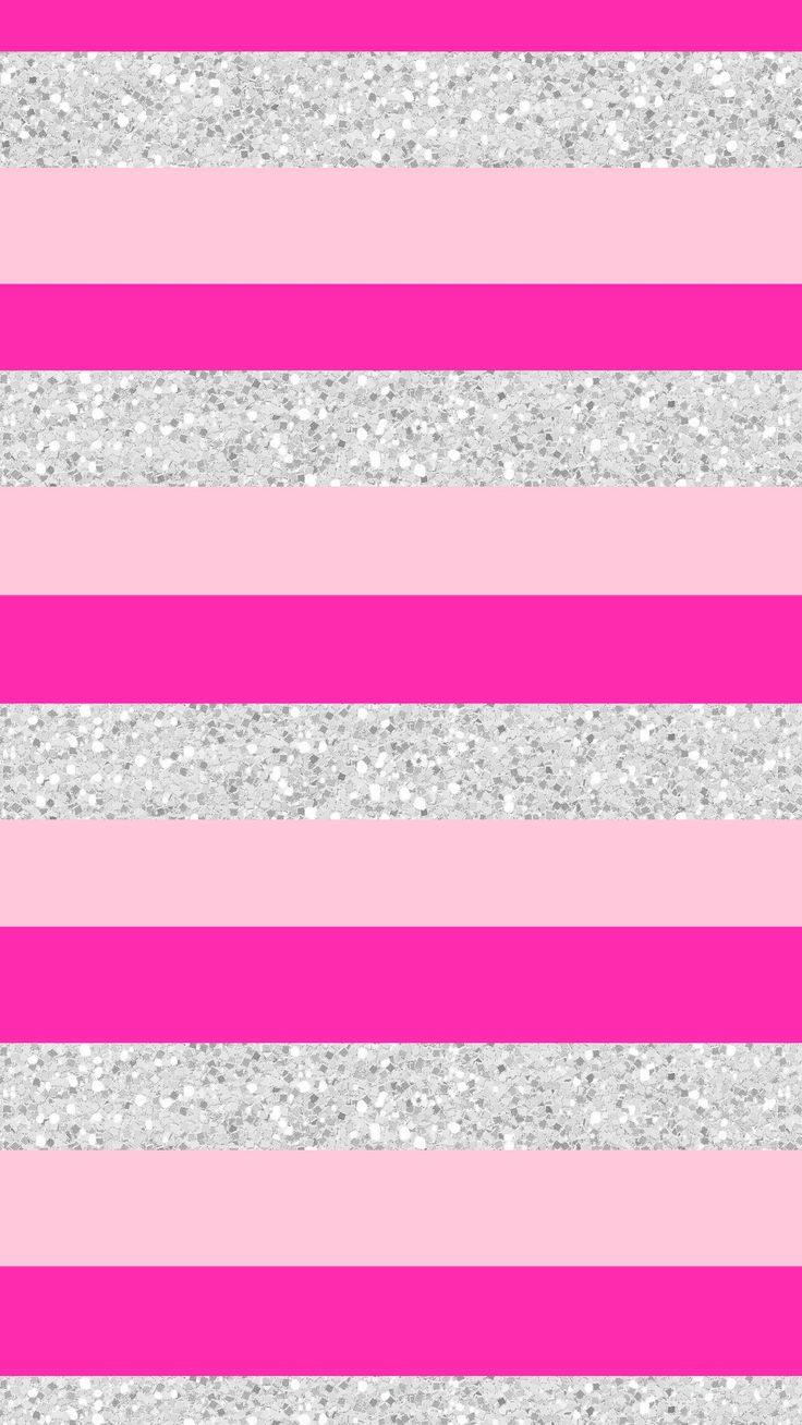 Wallpaper, background, iPhone, Android, HD, pink, silver, glitter, stripes