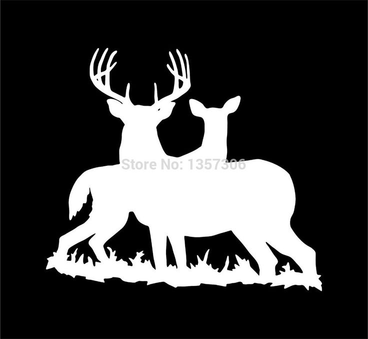 Best Deer Hunting Silhouettes Vectors Clipart Svg - Hunting decals for truckshuntingfishing window decals in white or camouflage at woods