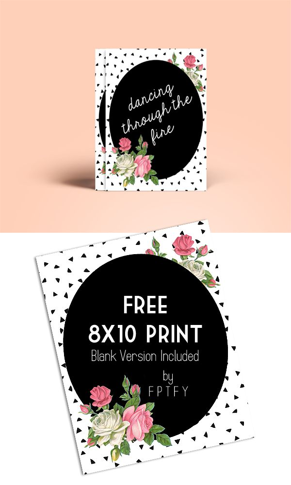 Free Printables: Beautiful 8x10 Art Rose Print - Free Pretty Things For You